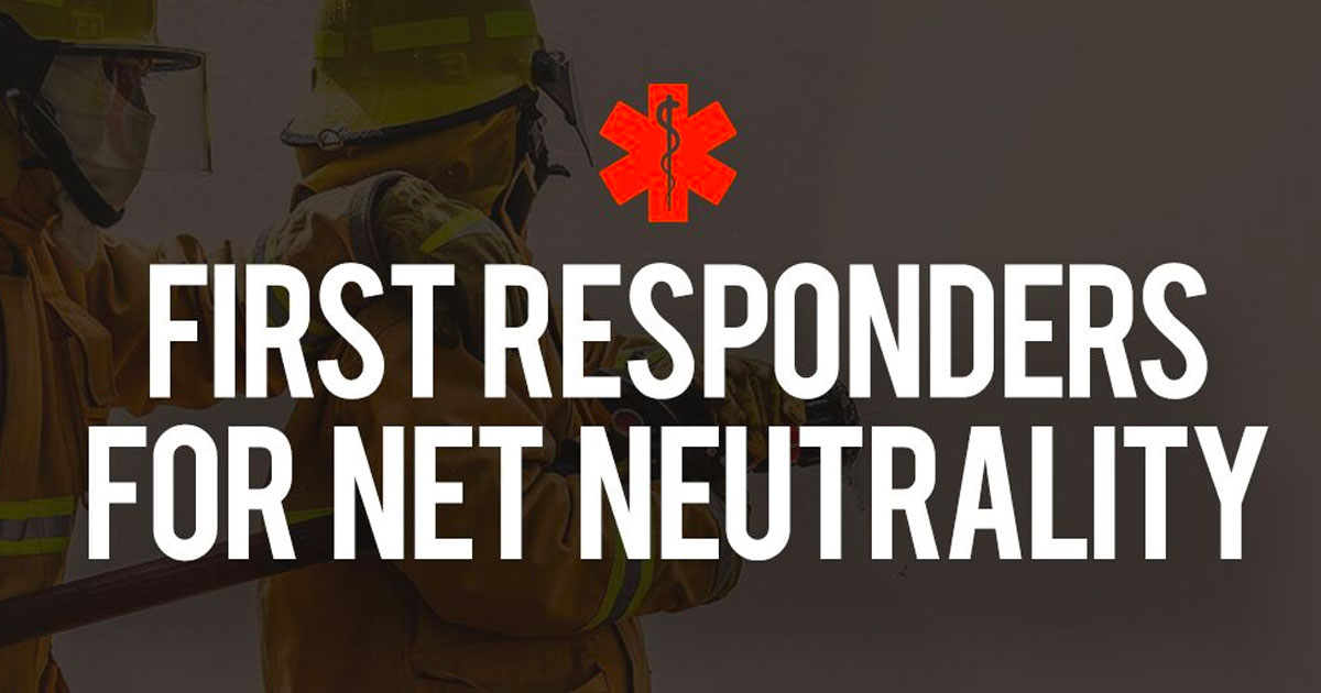 First Responders for Net Neutrality
